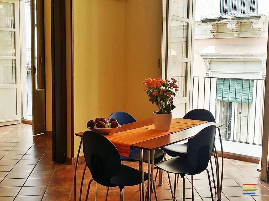 Jesień na Sycylii Politi Residence jadalnia