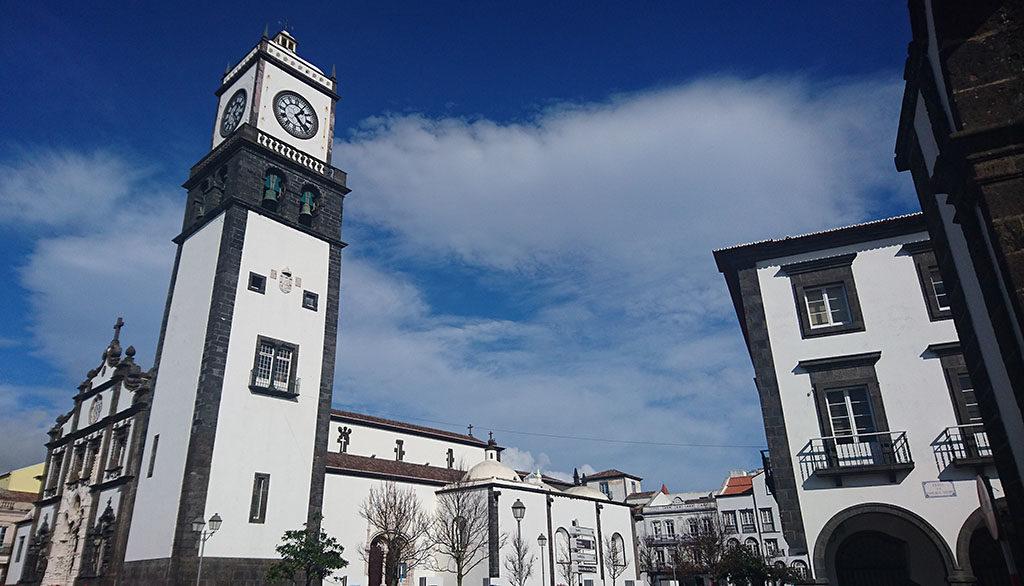 Ponta delgada centrum na Azorach