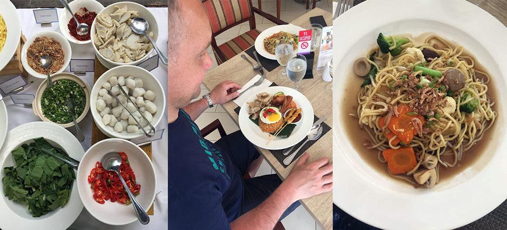 jedzenie dobry hotel na Penang