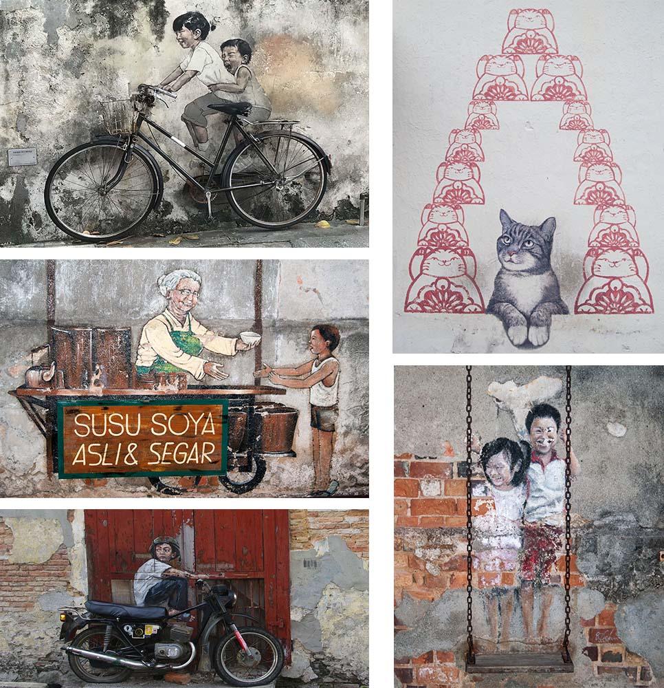 darmowe atrakcje dla dzieci Penang murale