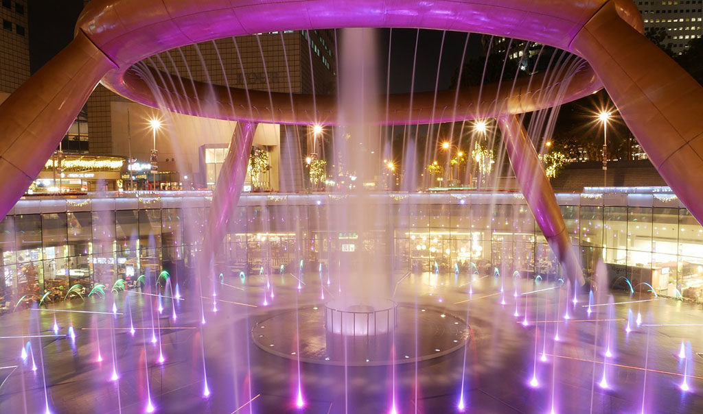 Singapur darmowe atrakcje fontanna najwieksza