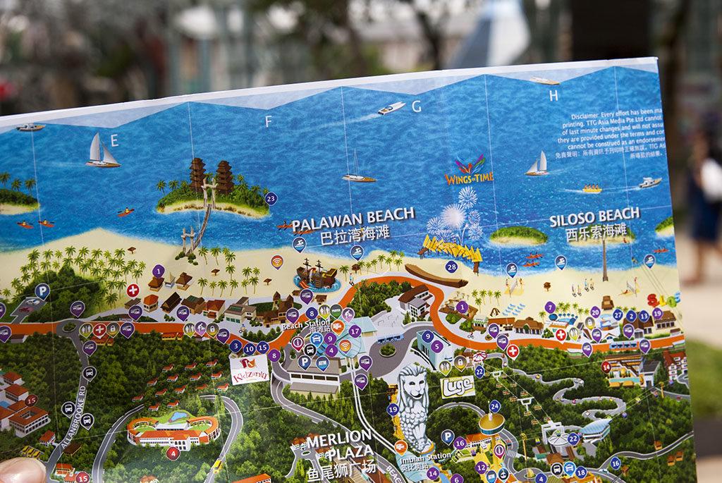 Singapur darmowe atrakcje mapa sentosa