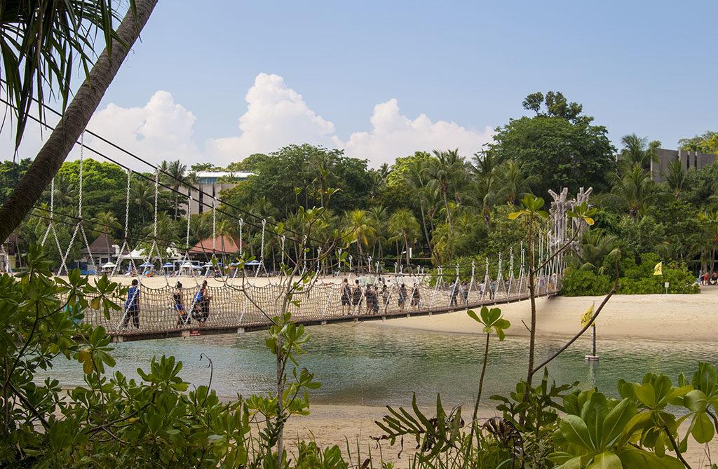 Singapur darmowe atrakcje piracki statek most