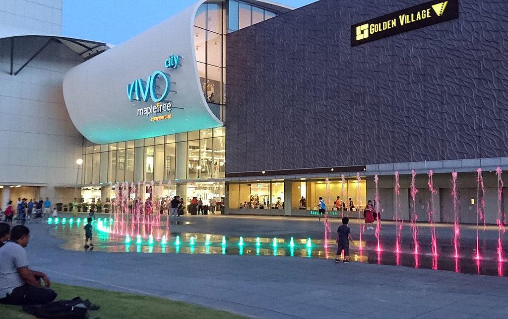 Singapur darmowe atrakcje vivo city fontanna