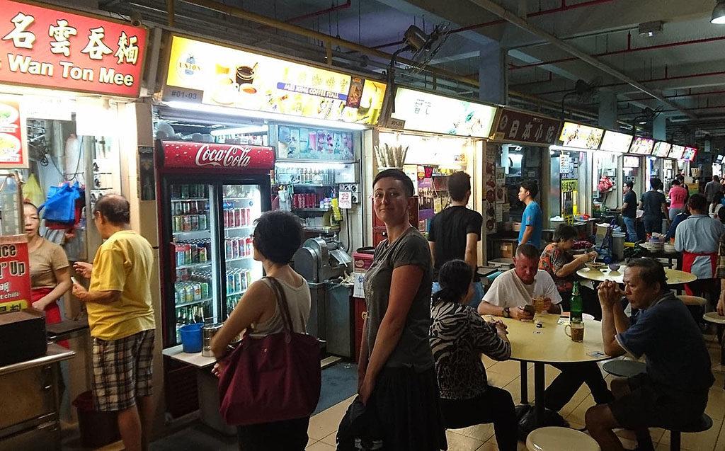azjatyckie jedzenie Singapore kolejka