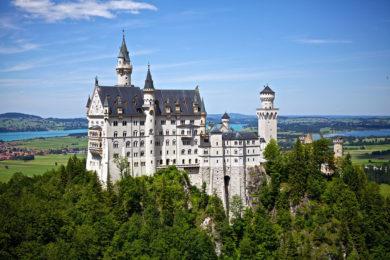 Zamek Neuschwenstein niemckie miasta