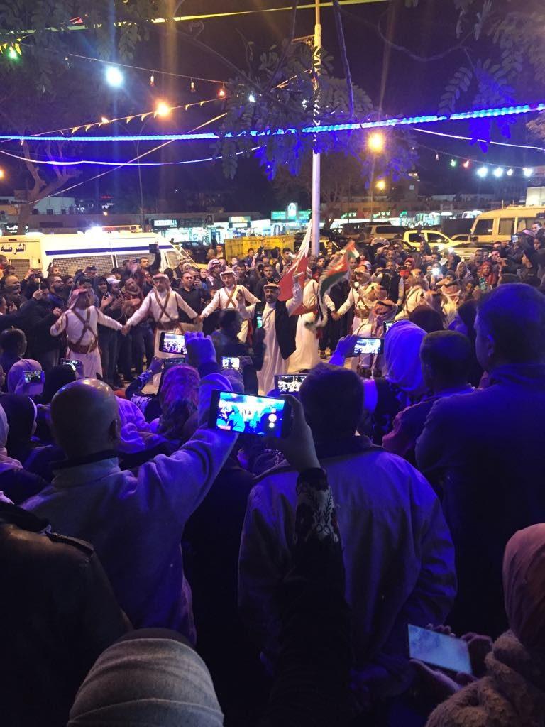 Aqaba kurort w Jordanii tance