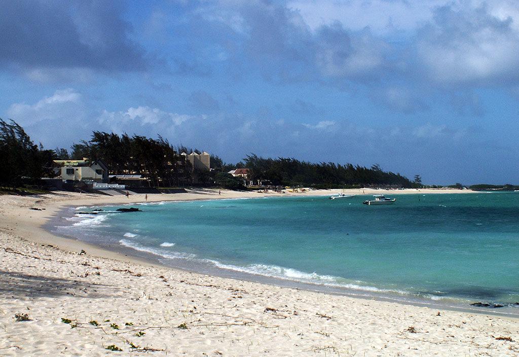Wakacje na Mauritiusie plaża i plamy Trou d'eau Douce