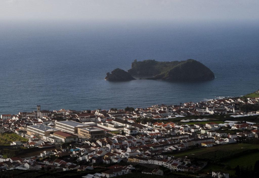 widok z kościoła na Azorach