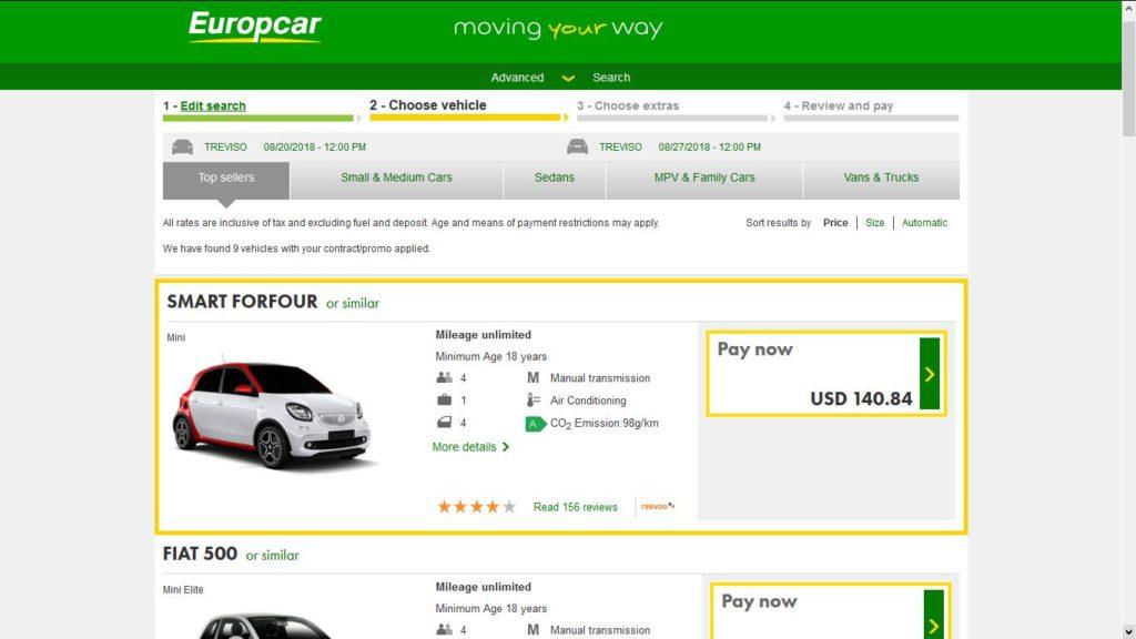 Wenecja w sierpniu oferta wynajem samochodu