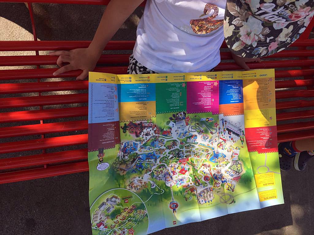 Legoland w Niemczech mapa parku