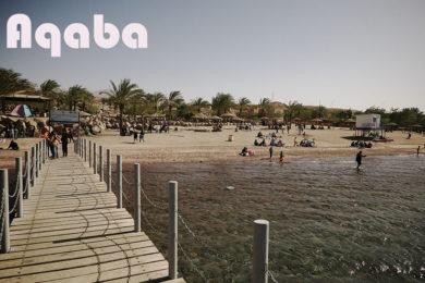 Aqaba kurort w jordanii molo tytułowe