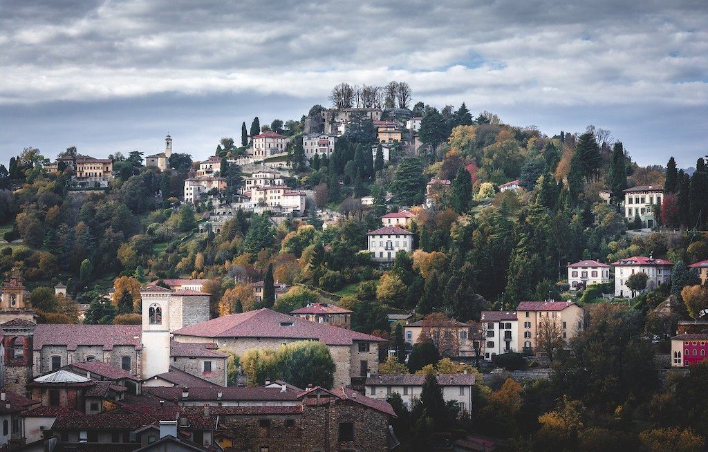 Mediolan i Bergamo widok na miasto