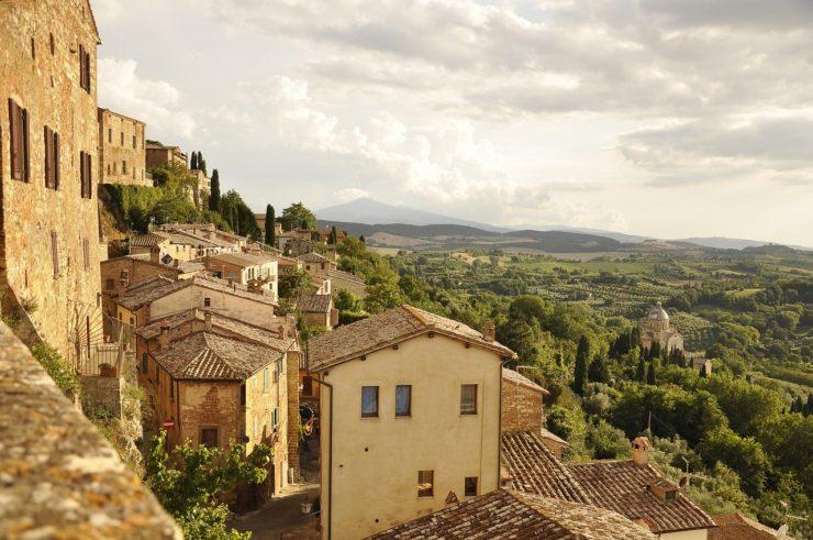 Włochy Toskania miasteczko widok